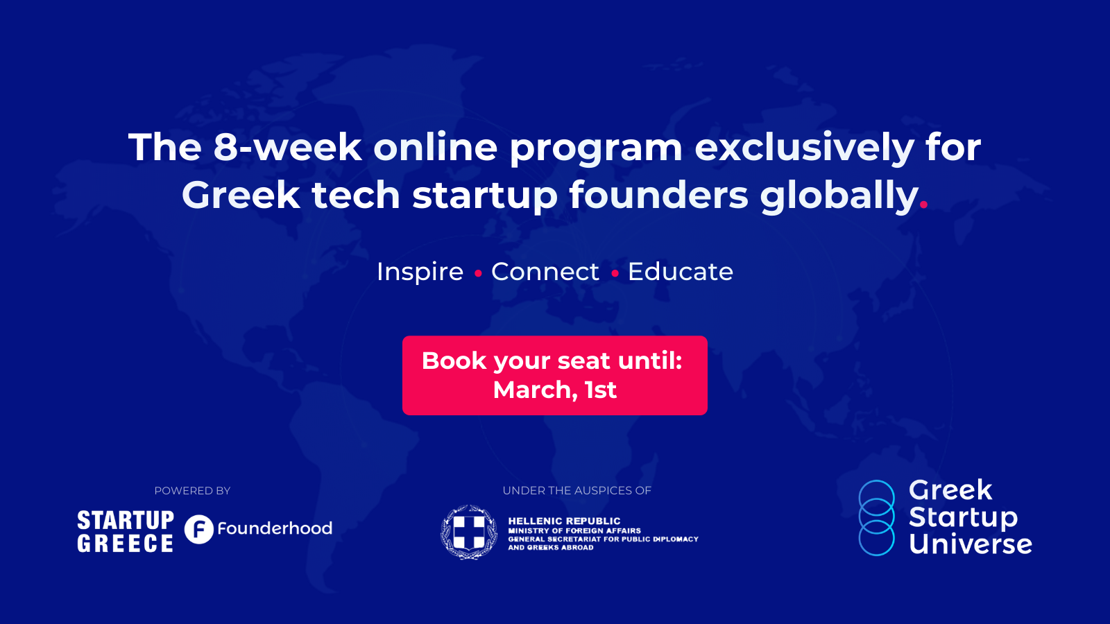 Greek Startup Universe: The 8-week online program exclusively for Greek tech startup founders globally by Startup Greece and Founderhood